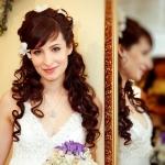 Свадебная причёска из локонов