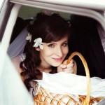 Причёска невесты с живыми цветами