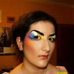 Подиумный макияж в акварельной технике