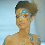 Визажист-стилист выполнил бодиарт на тему Карнавал в Рио