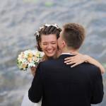 Свадебная прогулка жениха и невесты