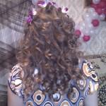 Причёска невесты сзади