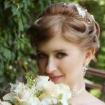 Невеста Людмила с цветами