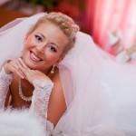Свадебный макияж и причёска невесты Ксении