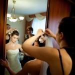 Украшение причёски невесты живыми цветами