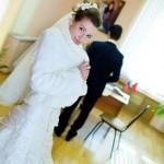 Красивая невеста Оля