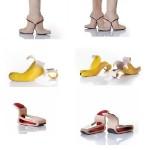 Двойные сапожки, шлёпки-бананы, кресло