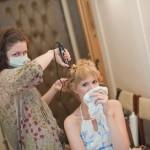 Оригинальная свадебная причёска на короткие волосы причёска и макияж для невесты
