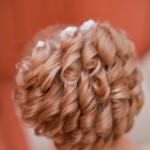 Причёска невесты - вид сзади