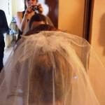 Репетиция свадебной причёски - фата невесты