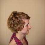Репеитиция свадебной причёски - вид справа