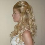 Вечерний макияж и причёска с накладными прядями