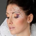Свадебный макияж Валерии с фантазийными элементами