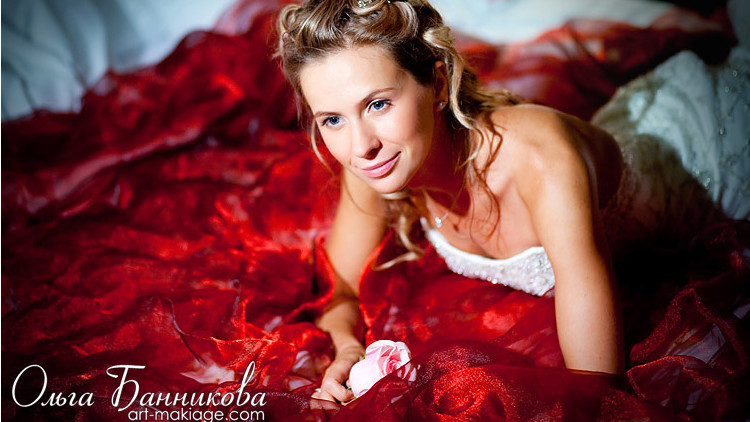 Причёска невесты Нади