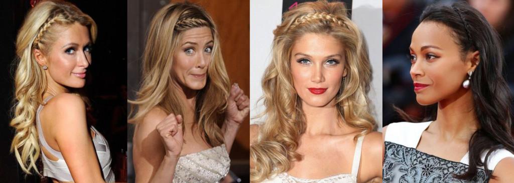Прически знаменитостей с косами