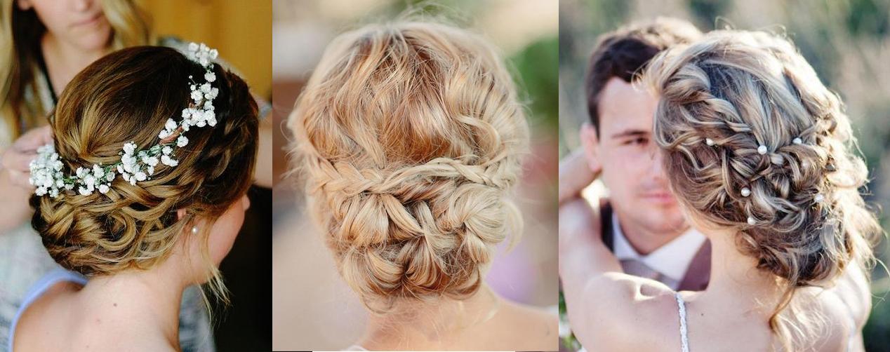 Свадебные прически с плетен