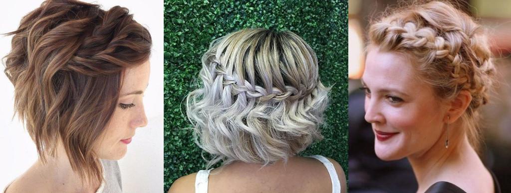 Плетение на коротких волосах