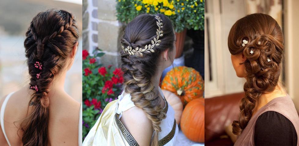 Модные прически плетение кос греческая прическа