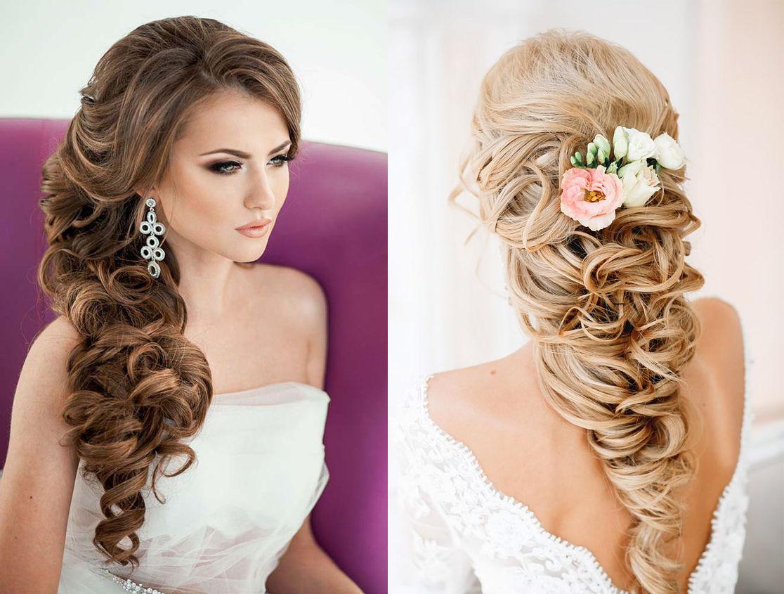 Свадебные прически с косами на длинные волосы волосами фото
