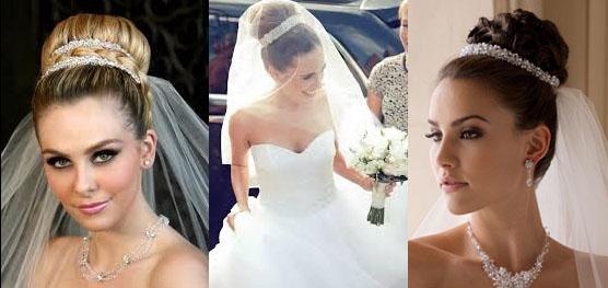 Свадебные прически с гулькой и фатой