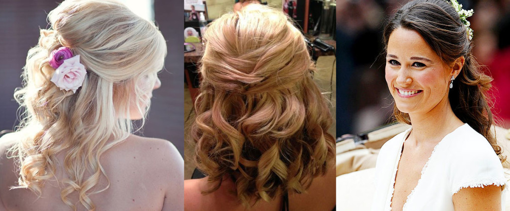 Прически для средних волос на свадьбу подружка невесты