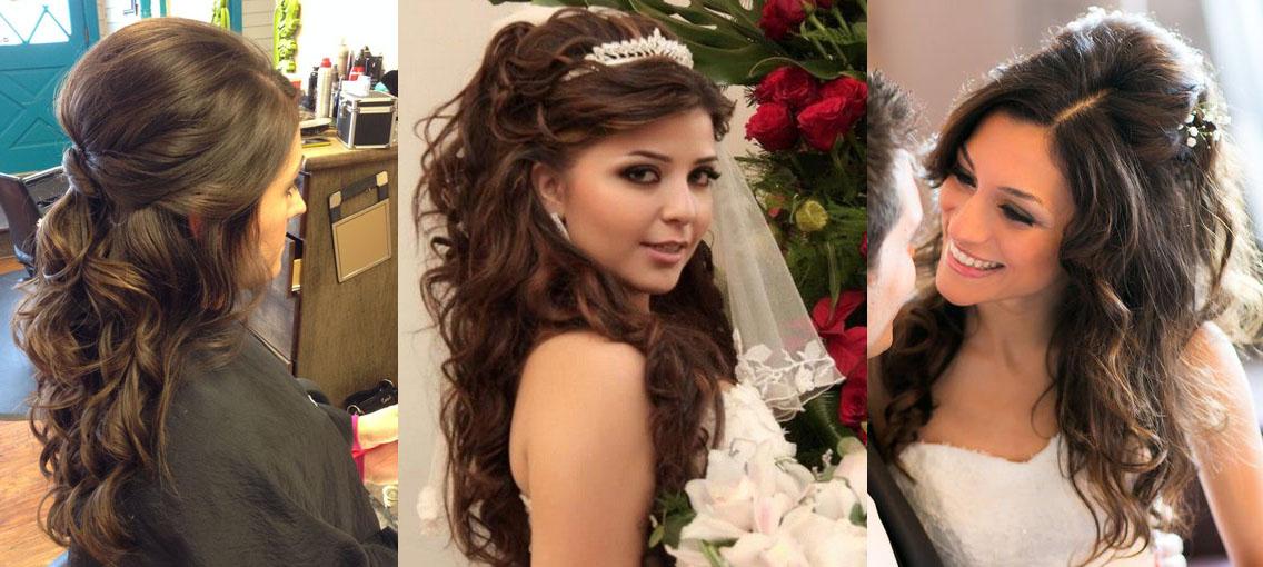 прически свадебные с объемом