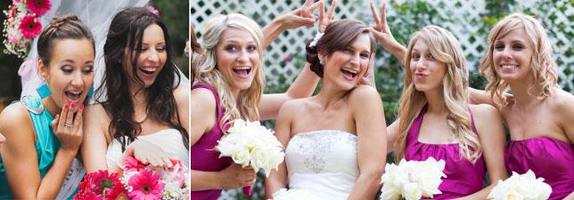 Прически подружки и невесты