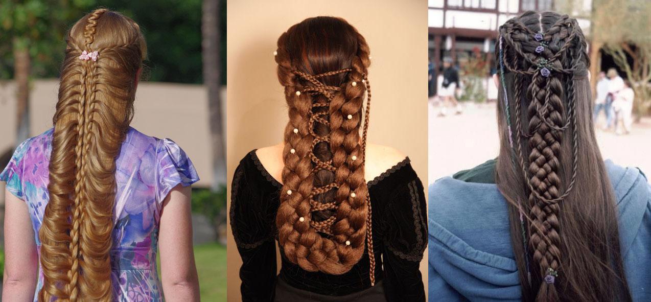 Прически на очень длинные тяжелые волосы