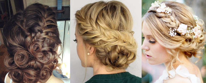 Праздничные причёски на средние волосы с плетением фото