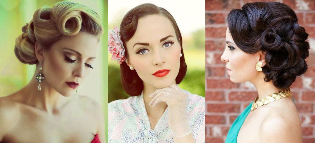свадебные ретро прически на средние волосы фото
