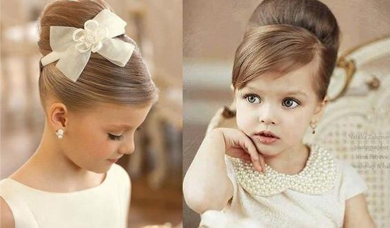 Детская прическа бабетта