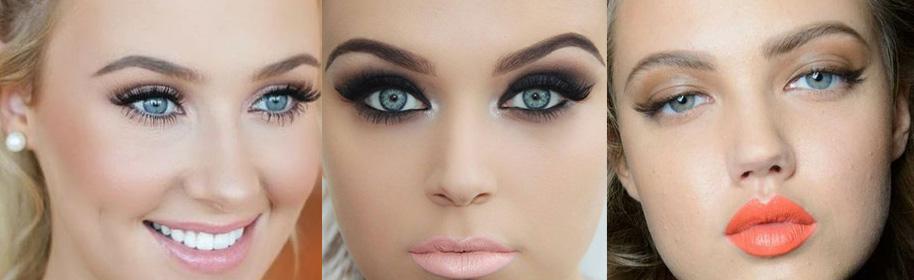 Вечерний макияж для голубоглазых блондинок