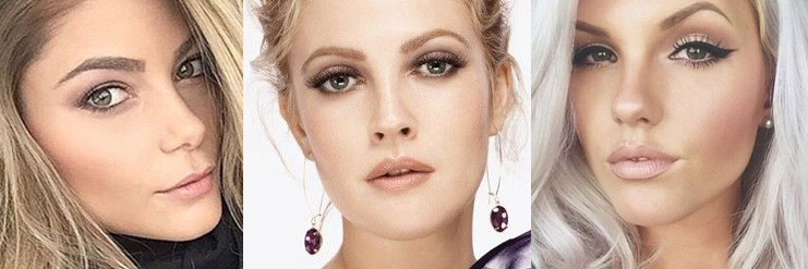 Вечерний макияж для блондинок с карими глазами