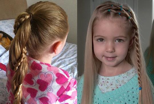 Детская коса-жгут