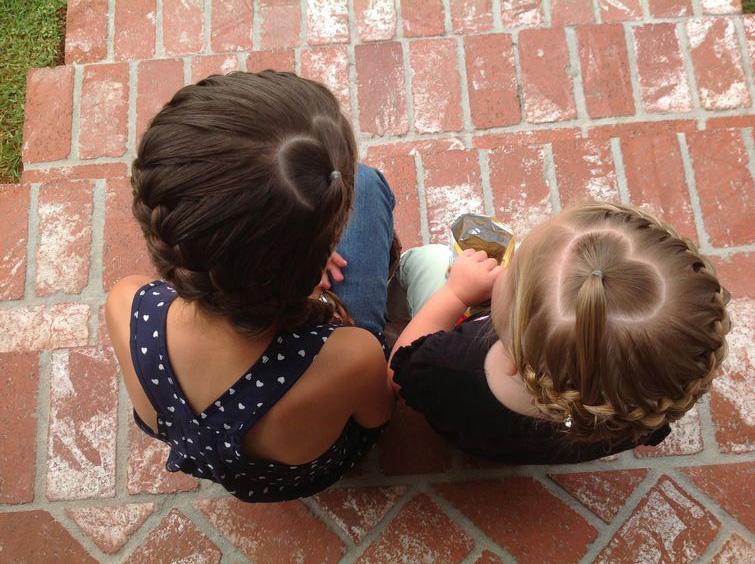Детская прическа коса-корзинка