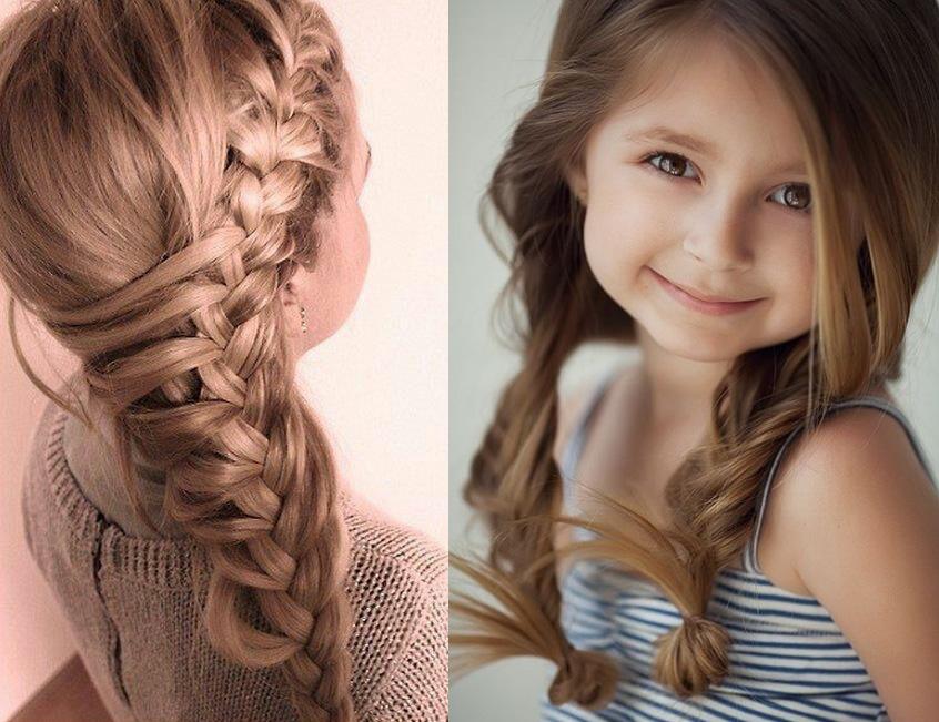 Детская прическа-коса