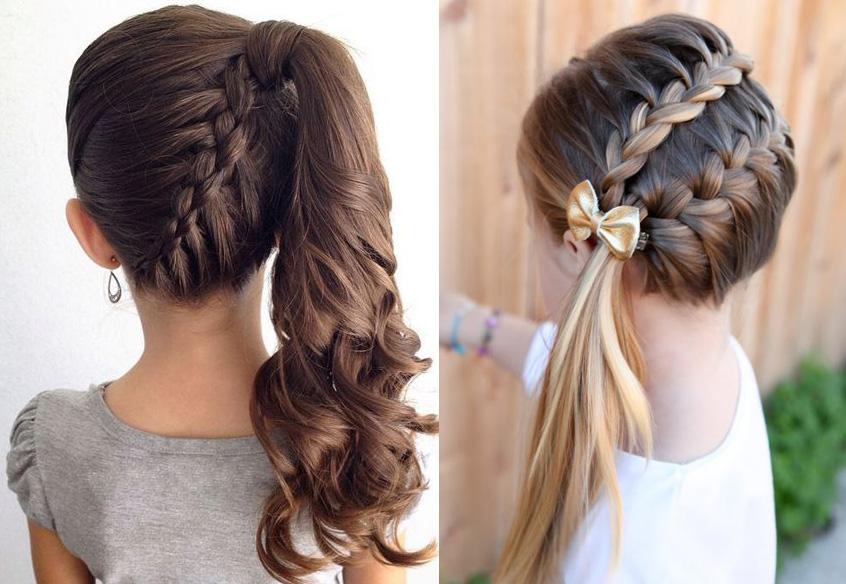 Детская прическа французская коса