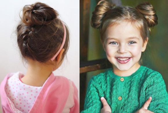 Фото детской прически гулька