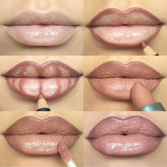 Как сделать губы пухлыми при помощи макияжа