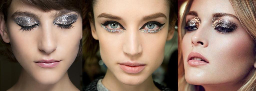 Новогодний макияж. Блестящие элементы