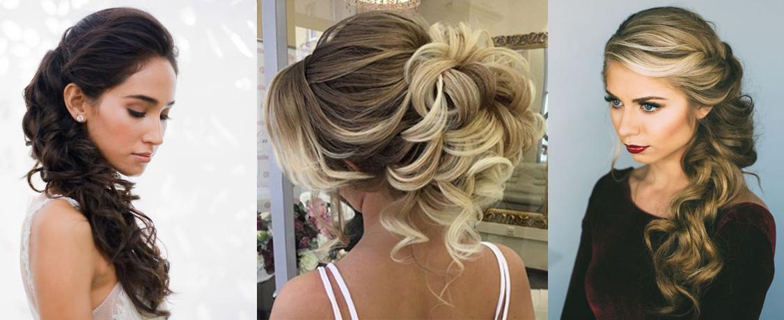 Вечерние прически на среднюю длину волос кудри