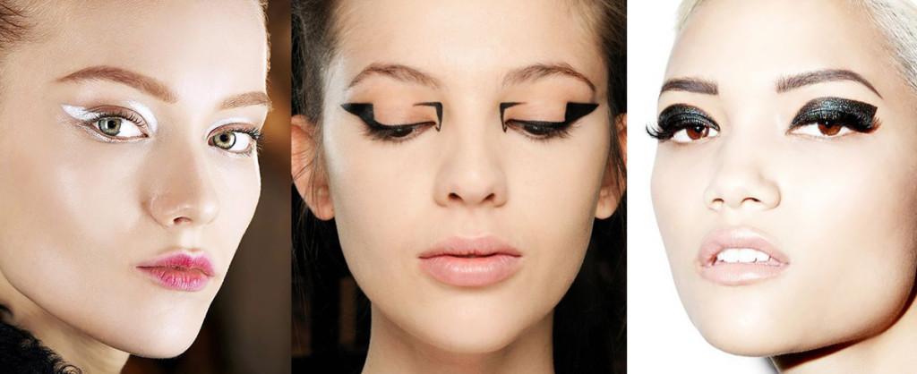 Новогодний макияж. Необычные стрелки