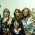 Почти половина коллектива школы макияжа Ателье на апрель 2011 года