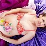 Рисунки на беременном животике