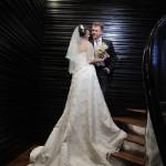 Шикарное свадебное платье с длинным шлейфом