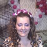 Причёска и макияж невесты готов