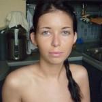 Невеста Валерия до создания причёски и макияжа