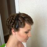 Причёска и макияж во французском стиле для выпускницы Насти