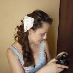 Репетиция свадебной причёски и макияжа