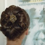 Элегантная причёска для подруги невесты